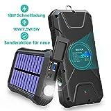 BLAVOR Schnelle Wireless Power Bank 20000mAh,18W Quick Charge 3.0&induktives Laden 10W/7.5W,Solar...