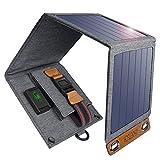 CHOETECH Solar Ladegerät, 14W Solarpanel Tragbares Leichtgewicht Outdoor Kompatibel mit Allen...