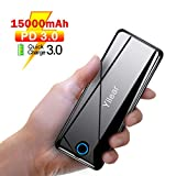 Yilear Powerbank 15800mAh Tragbares Ladegerät mit Type-C Power Delivery &Quick Charge 3.0, Externen...