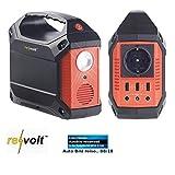 reVolt Powerstation: Powerbank & Solar-Konverter, 42 Ah, 155 Wh, 230 V, 12 V, USB, 180 Watt...