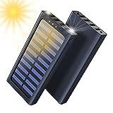Solar Powerbank, 24000mAh Externer Akku, 4 USB mit 2.4A Ausgänge Tragbares Ladegerät für...
