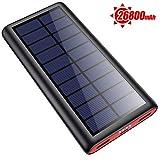 SWEYE Solar Powerbank 26800mAh Solarladegerät,【2020 Neuestes Solar Ladegerät】 Externer Akku...