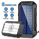 Solar Powerbank 26800mAh 2020 Neuestes Solarladegerät Qi Wireless Tragbares Ladegerät Schnelles...