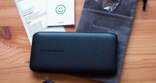 RAVPower 10000mAh Powerbank USB C RP-PB078 Lieferumfang