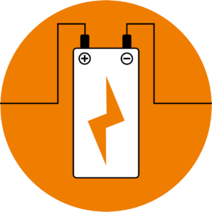 Akku Zelle schematische Darstellung