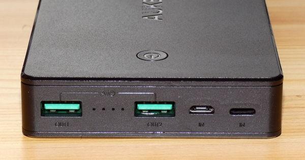 AUKEY Powerbank 20000mAh PB-N36 Anschlüsse