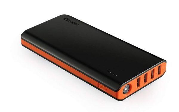 EasyAcc 20000mAh Powerbank Externer Akku mit 4 Smart Ausgängen