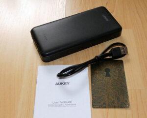 AUKEY 20000mAh USB-C Powerbank PB-T17 Lieferumfang